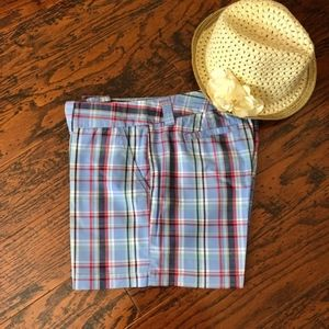 Tommy Hilfiger Preppy Blue Plaid Shorts
